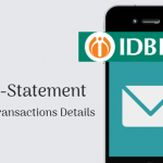 IDBI Bank Account mini statement