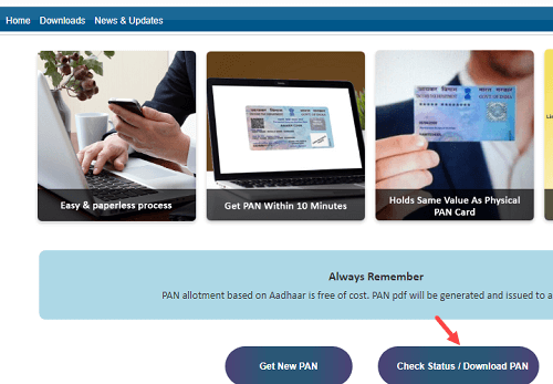 Apply for Instant PAN Card Online (e-PAN)