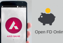 Axis Mobile banking open FD account