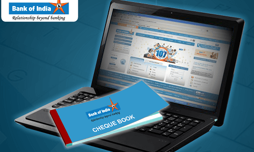 Request Bank of India Cheque Book online