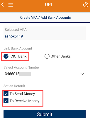 How To Create UPI ID (VPA) for ICICI Bank Account Through