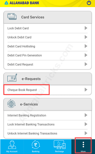Request Allahabad Bank Cheque Book Online