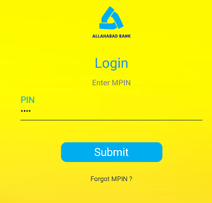 Allahabad Bank mobile banking login