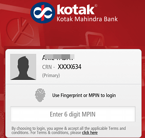 kotak mobile banking login