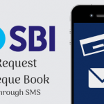 Request SBI Cheque Book through SMS
