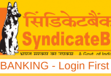 first time login Syndicate net banking