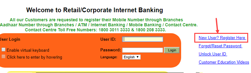Syndicate Bank net banking online activation