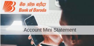 Bank of baroda mini statement