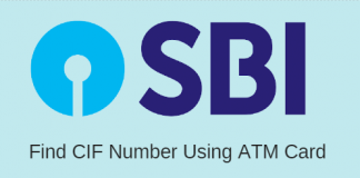 Find SBI CIF number using ATM Debit card