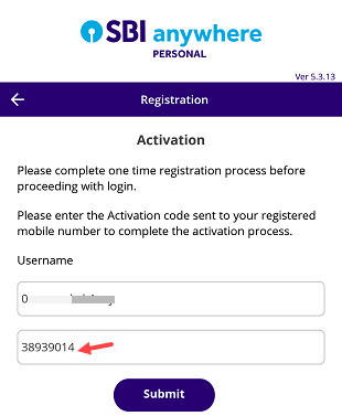 Activate SBI Mobile Banking