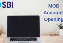 SBI open MOD Account online