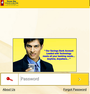 vijaya Bank mobile banking login