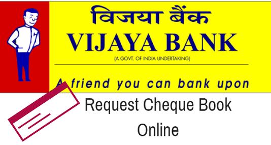apply cheque book online vijaya Bank