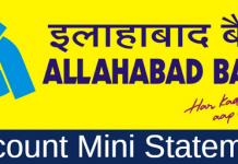 Allahabad bank mini statement