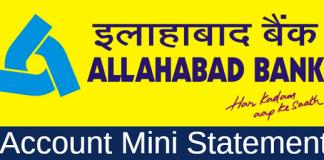 Allahabad bank mini statement