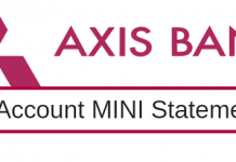 axis bank mini statement