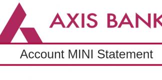 axis bank mini statement