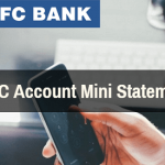 HDFC Account mini statement