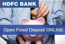 HDFC Bank open Fixed deposit (FD) online