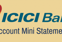 ICICI Bank Mini Statement
