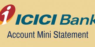 ICICI Bank Mini Statement