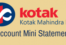 Kotak Bank Mini Statement