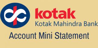 Kotak Bank Mini Statement