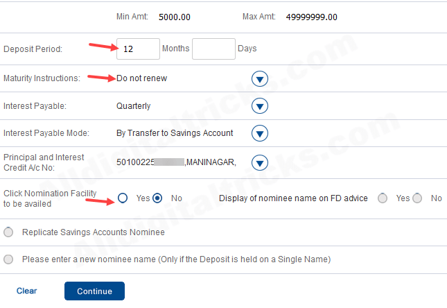 HDFC Bank open Fixed deposit (FD) online