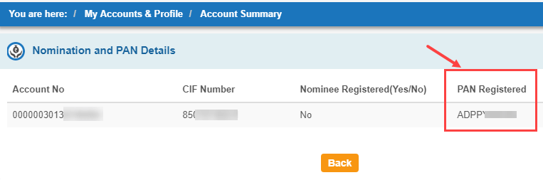 pan card link sbi account or not