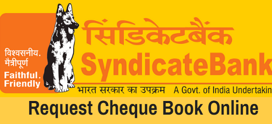 Syndicate Bank Request Cheque Book Online