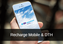 SBI Anywhere DTH and mobile recharge