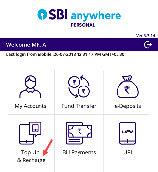 SBI Anywhere recharge