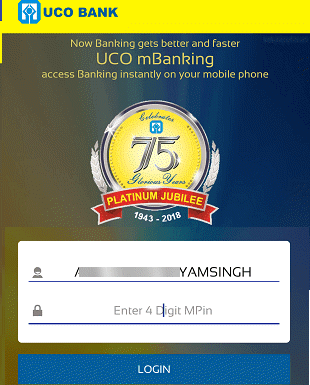 uco bank mobile banking login