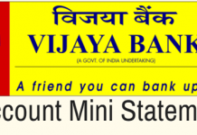 vijaya Bank mini statement
