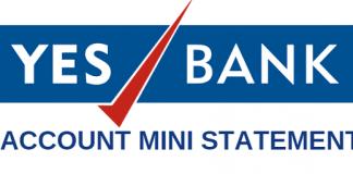 yes bank mini statement