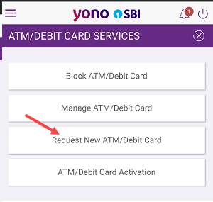 upgrade SBI Debit card online