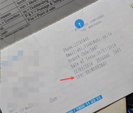 FIND SBI IFSC Code passbook