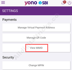 Get SBI MMID online