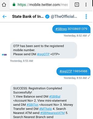 SBI Twitter Banking