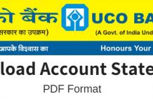 UCO Bank Account PDF statement