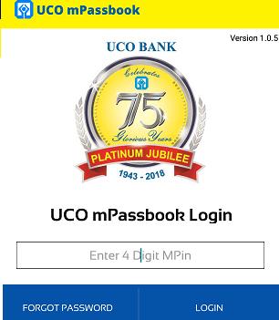 UCO mPassbook login