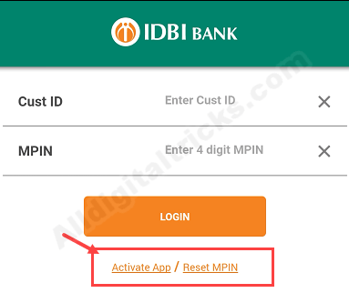 IDBI Mobile Banking Registration