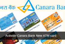 activate canara bank ATM card