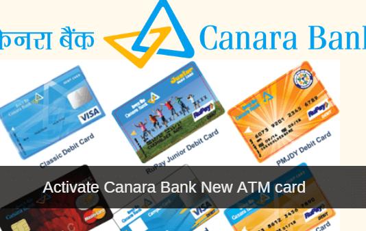 activate canara bank ATM card