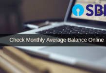 check SBI monthly average balance online