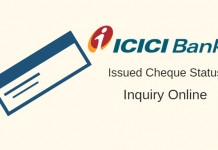 Check ICICI Issued Cheque Status Online
