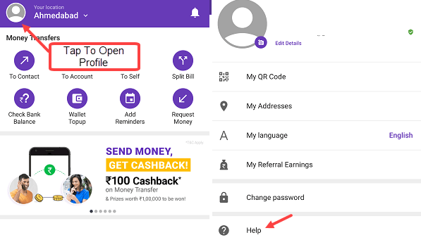 Phonepe chat support