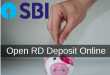 Open SBI RD Deposit account online