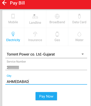 Airtel Pay electricity Bill