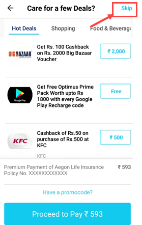 Pay LIC Premium Payment on Paytm